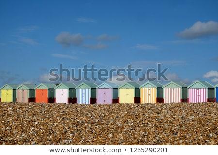 Sahil görmek gökyüzü su Bina Stok fotoğraf © Harveysart
