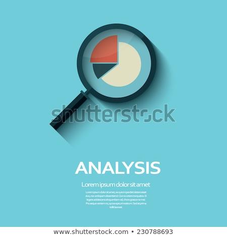 lupą · rynku · badań · słowo · biały · okulary - zdjęcia stock © kbuntu