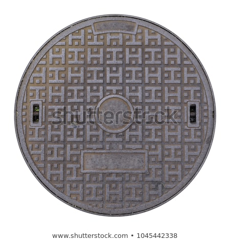 Rusty Manhole Cover Background Stock photo © brm1949
