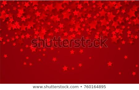 Piros csillagok háttér üreges különböző magasság Stock fotó © timbrk
