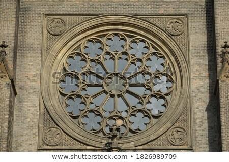 Kościoła placu Praha Czechy późno domu Zdjęcia stock © SimpleFoto
