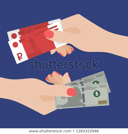 one hand transfers dollars of another stock photo © paha_l