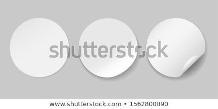 Blank round bent sticker or label  Stock photo © Arsgera