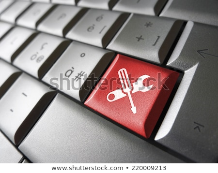Ferramenta teclado reparação de computadores negócio internet trabalhar Foto stock © leeser