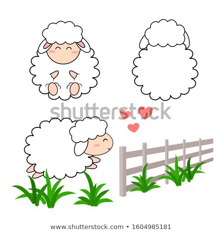 cute sheep in meadow Stock photo © smithore