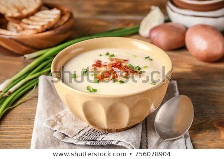 Ingrediënten aardappelsoep pot vers mand wortel Stockfoto © joker