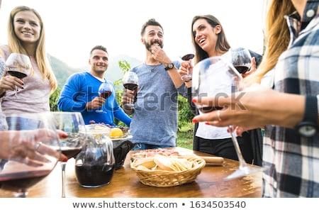 Homem vinho tinto beber retrato laboratório agricultura Foto stock © photography33