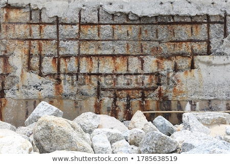 Korozyon resim boyalı bana madeni yüzey Stok fotoğraf © prill