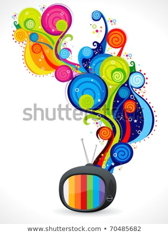abstract colorful magical television Stock photo © pathakdesigner