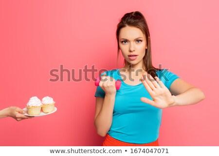 серьезный женщину спортсмена красный Сток-фото © Rebirth3d