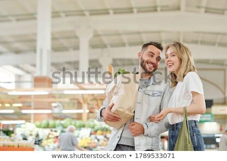 Coppia · acquisto · supermercato · donna · alimentare - foto d'archivio © photography33