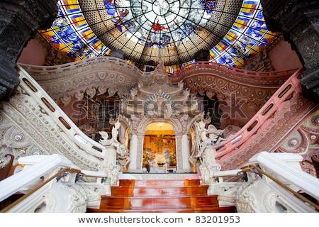 Lépcsőfeljáró múzeum belső ház épület otthon Stock fotó © Witthaya