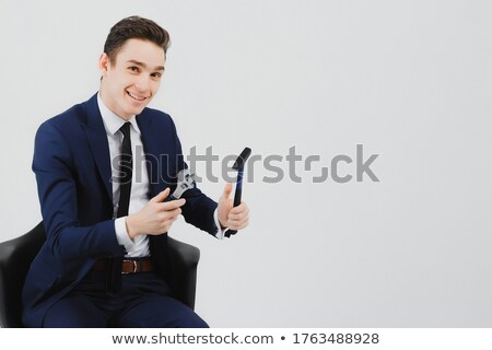 Man in suit holding hammer stock photo © photography33