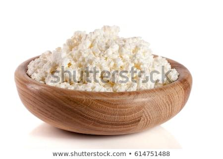 Diéta ebéd túró krémes fehér friss tej Stock fotó © klsbear