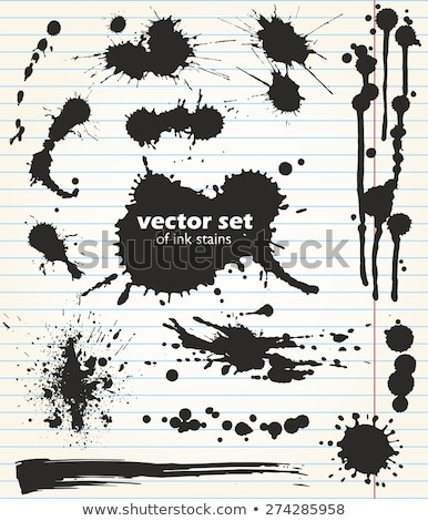 Template with big ink blot Stock photo © IMaster