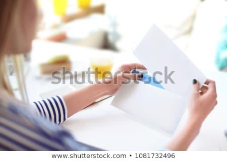 Hand mail wereld levering kaart business Stockfoto © vlad_star