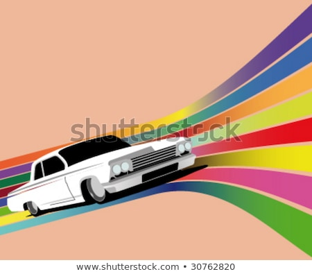 Zdjęcia stock: Trzy · grunge · banery · samochody · samochodu · chmury