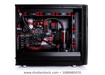 Modern számítógép tok izolált fehér doboz Stock fotó © ozaiachin