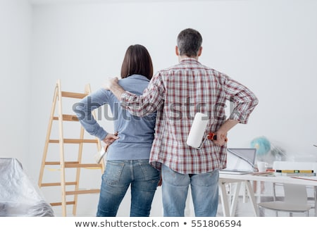man doing house painting stock photo © photography33