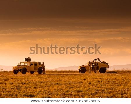 軍 車両 兵器 ヘルメット 戦争 兵士 ストックフォト © Saracin