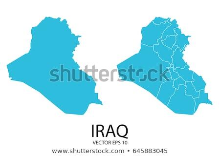 fekete · Irak · térkép · adminisztratív · város · ázsiai - stock fotó © schwabenblitz