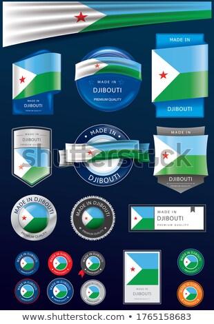 Wektora etykiety Dżibuti kolor pieczęć sprzedaży Zdjęcia stock © perysty