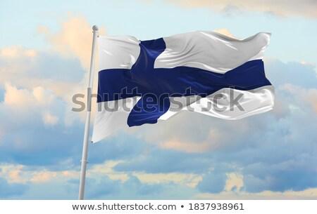 Politico bandiera Finlandia mondo paese Foto d'archivio © perysty