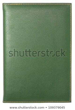 leather green folder isolated on white stock photo © shutswis