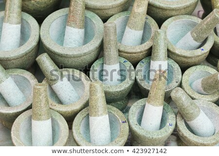asian pestle and mortar Stock photo © zkruger