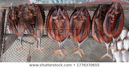 fish drying in sun thailand traditional food fishing stock photo © travelphotography