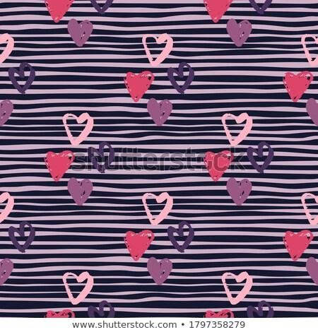 vector heart shaped hands silhouette on dark pink background Stock photo © cherju