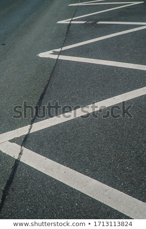 blanco · línea · asfalto · carretera · nubes · árbol - foto stock © deyangeorgiev