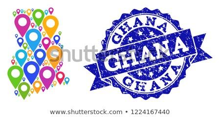 Ghana rosette flag Stock photo © milsiart