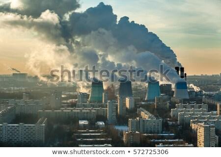 Elektromos erőmű hatalmas négy magas gyár energia Stock fotó © smithore