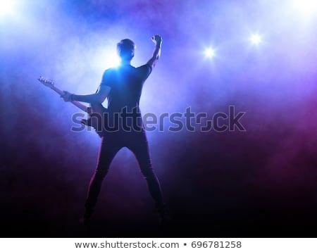 métaux · lourds · basse · guitariste · jouer · stade - photo stock © sumners