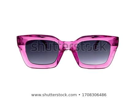 Солнцезащитные очки изолированный белый спорт лет мужчин Сток-фото © ozaiachin