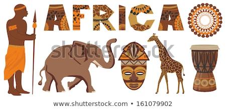 слон · жизни · Африка · лет · оранжевый - Сток-фото © dayzeren