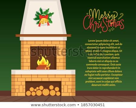 égő · tűzifa · főzés · grill · barbecue · textúra - stock fotó © lunamarina