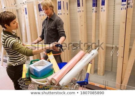 çift alışveriş depolamak kâğıt ev Stok fotoğraf © photography33