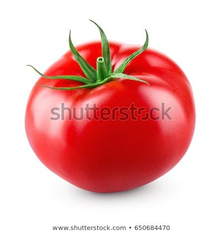 Green Tomato Isolated on White Stock photo © gabes1976