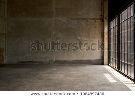 Oude lege kamer textuur kamer zwarte interieur Stockfoto © SSilver