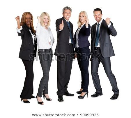 jovem · empresária · sucesso · branco · feliz - foto stock © wavebreak_media