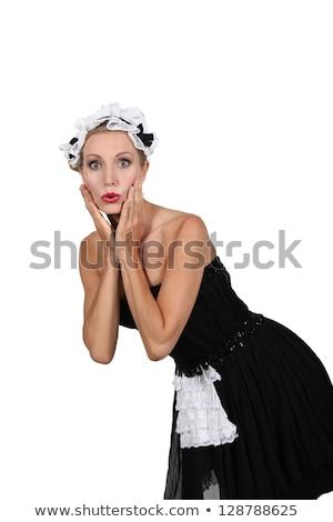 Nő francia szobalány jelmez jelmez buli Stock fotó © photography33