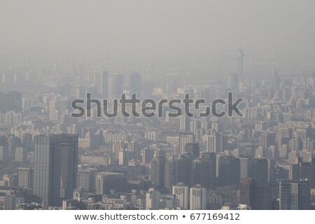 Contruction of Highest Building Beijing, China Stock photo © billperry