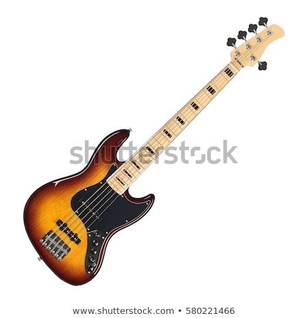 бас гитаре инструмент музыку изолированный белый Сток-фото © cteconsulting