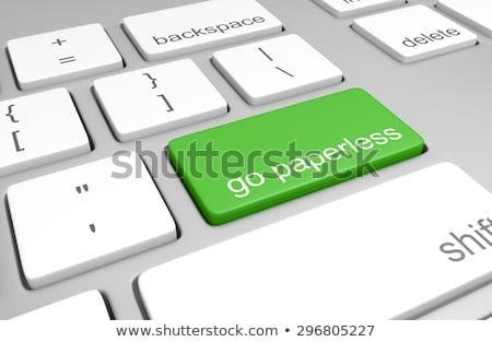 computer key   go stock photo © iqoncept