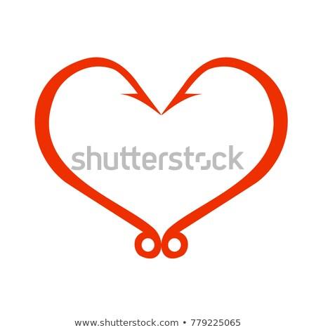 coração · imaginário · ver · menino · borda - foto stock © fotovika