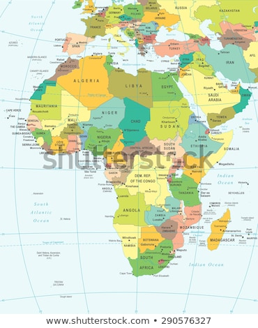 Africa map with Mozambique Stock photo © Ustofre9