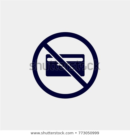 no credit card sign stock photo © zzve