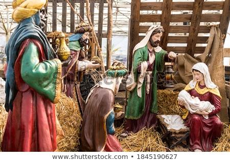 Tres regalos Cristo nacimiento Navidad Foto stock © Allegro